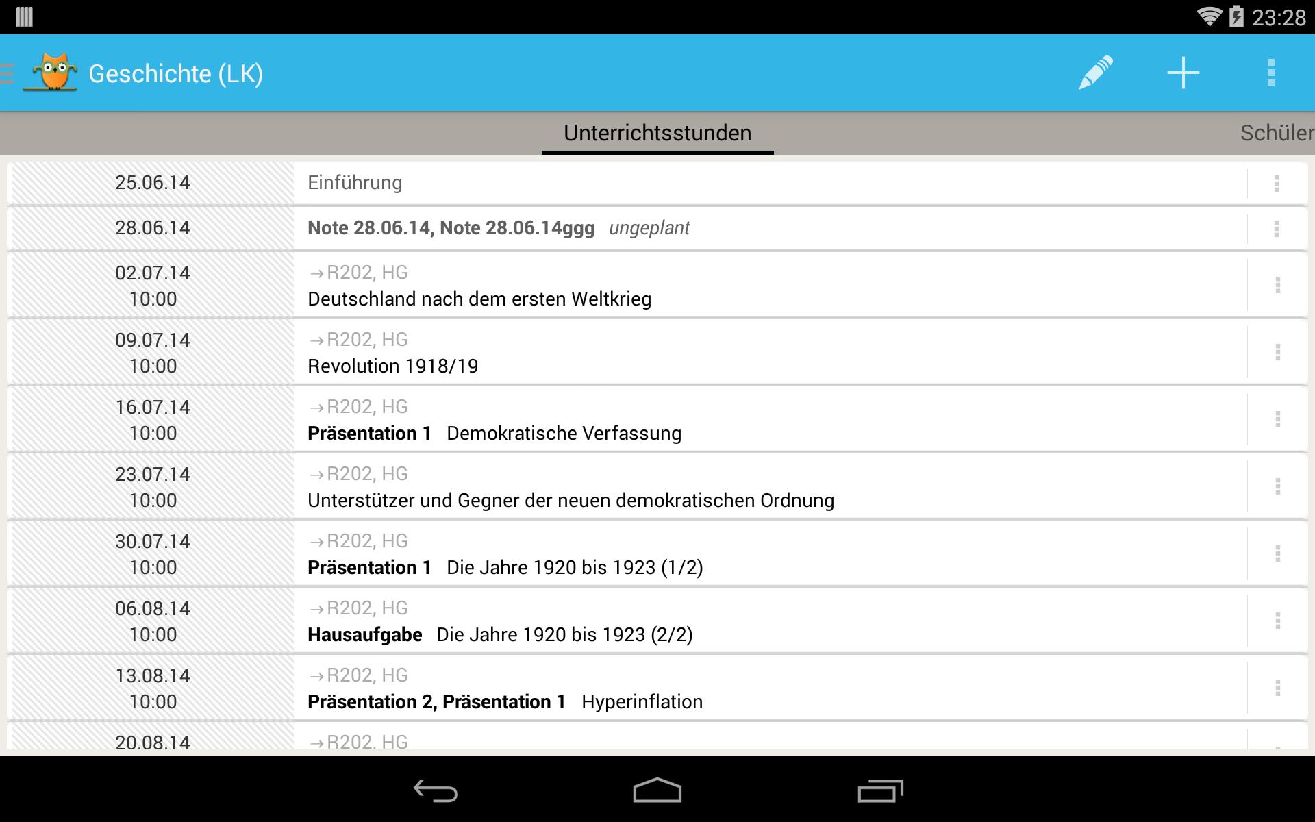 TeacherStudio-Handbuch-Android-Tablet-Kurs-Unterrichtsstunden