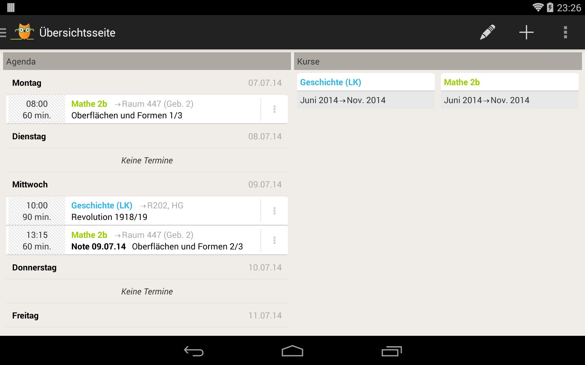 TeacherStudio-Handbuch-Android-Tablet-Startseite