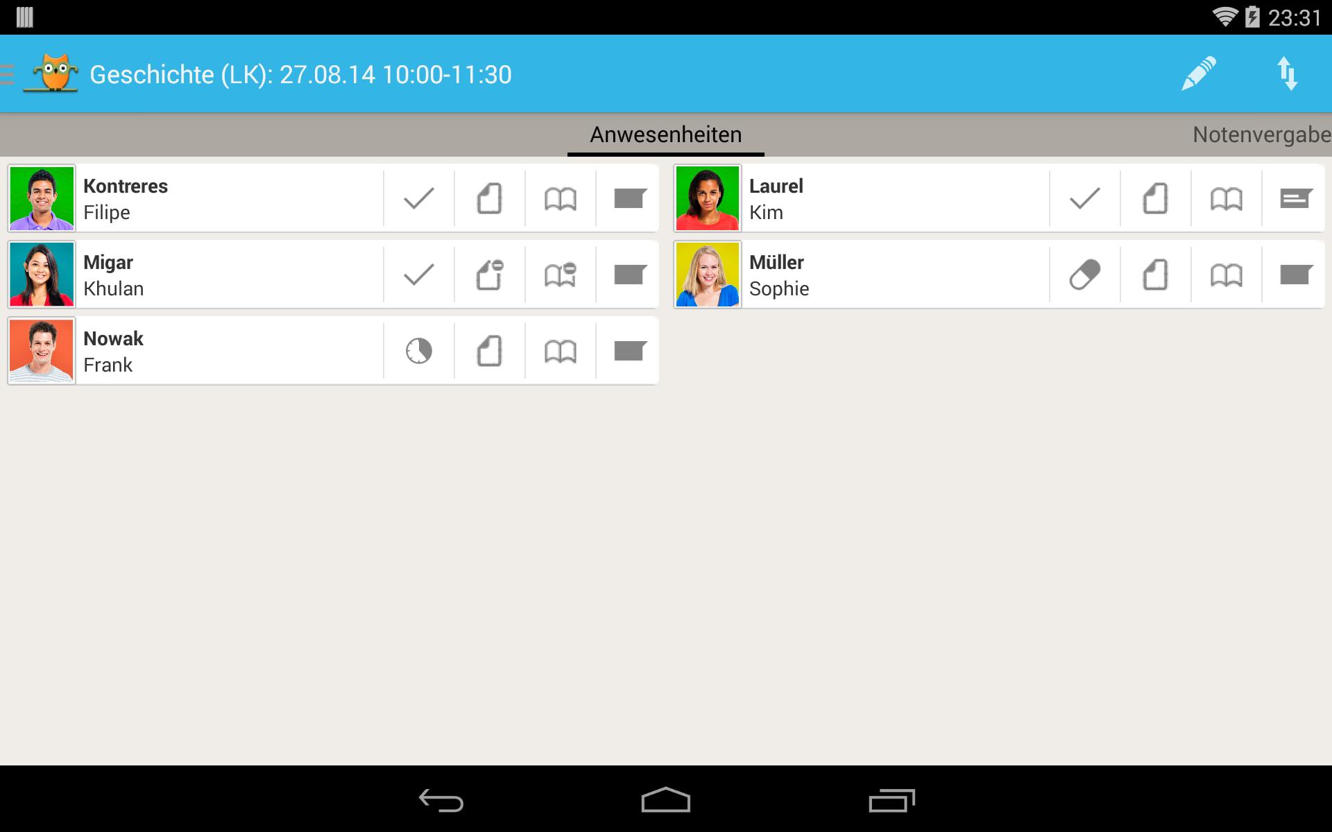 TeacherStudio-Handbuch-Android-Tablet-Unterrichtsstunde-Anwesenheit