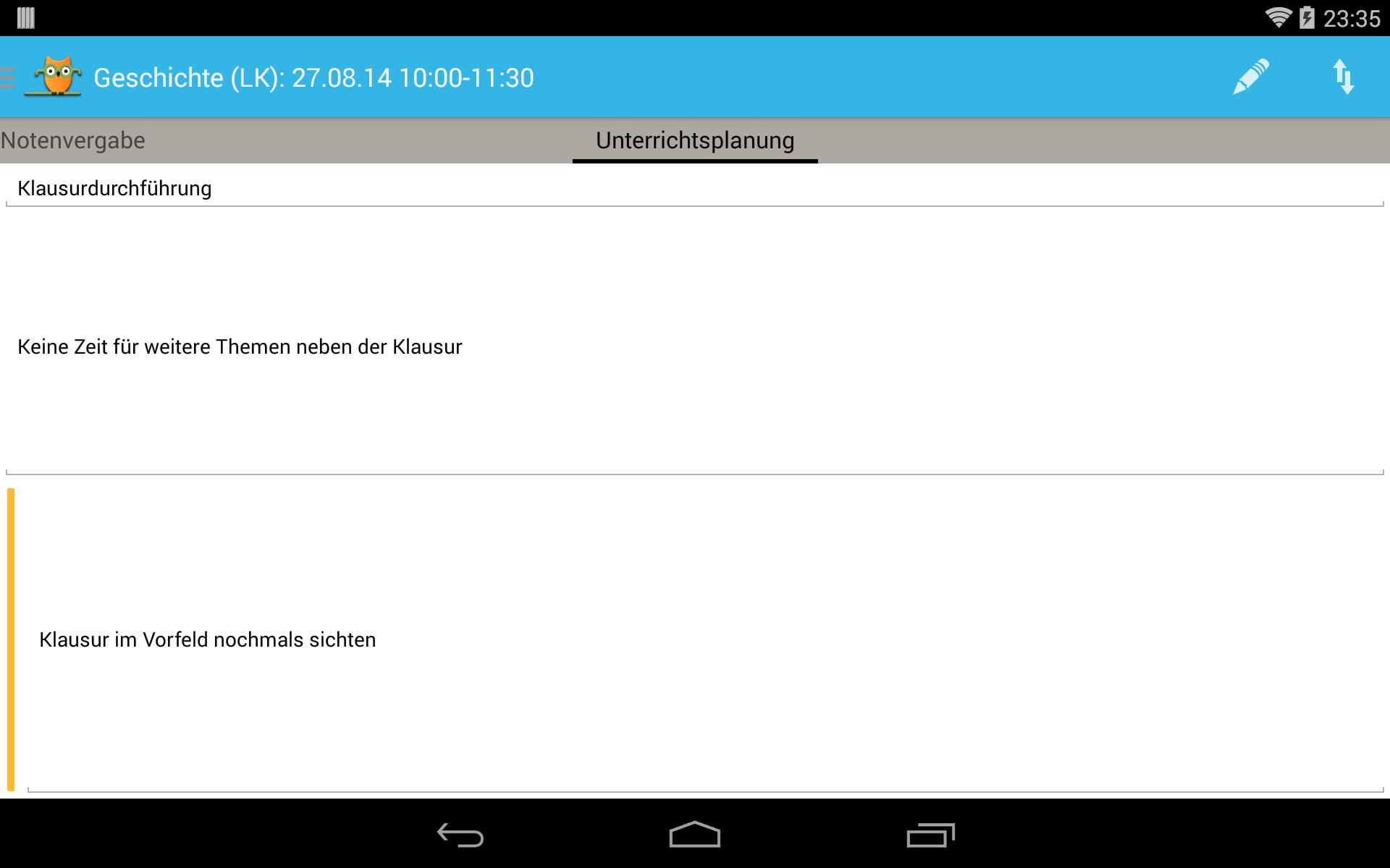 TeacherStudio-Handbuch-Android-Tablet-Unterrichtsstunde-Unterrichtsplanung