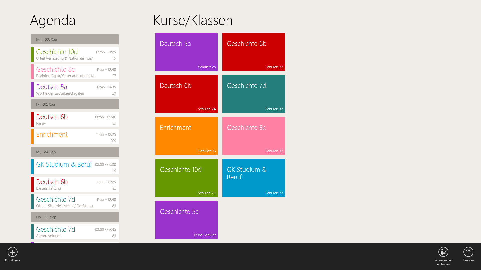 TeacherStudio-Handbuch-Windows-Startseite