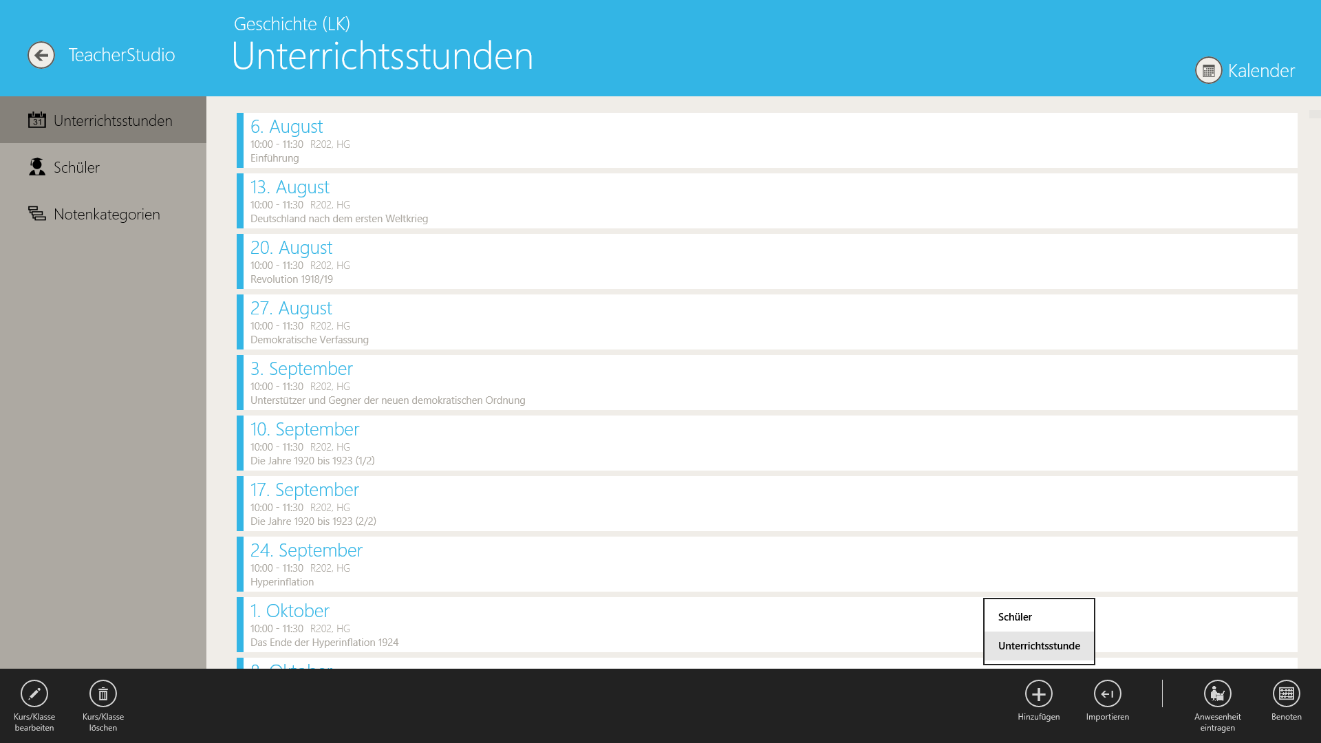 TeacherStudio-Handbuch-Windows-Stundenplan-Unterrichtsstunde-anlegen