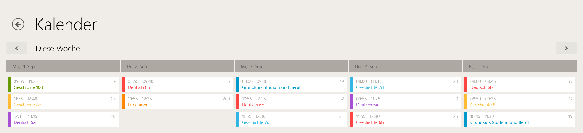 TeacherStudio-Windows-Kalender-Wochenansicht