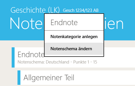 TeacherStudio-Windows-Notenkategorien-Notenschema-ändern