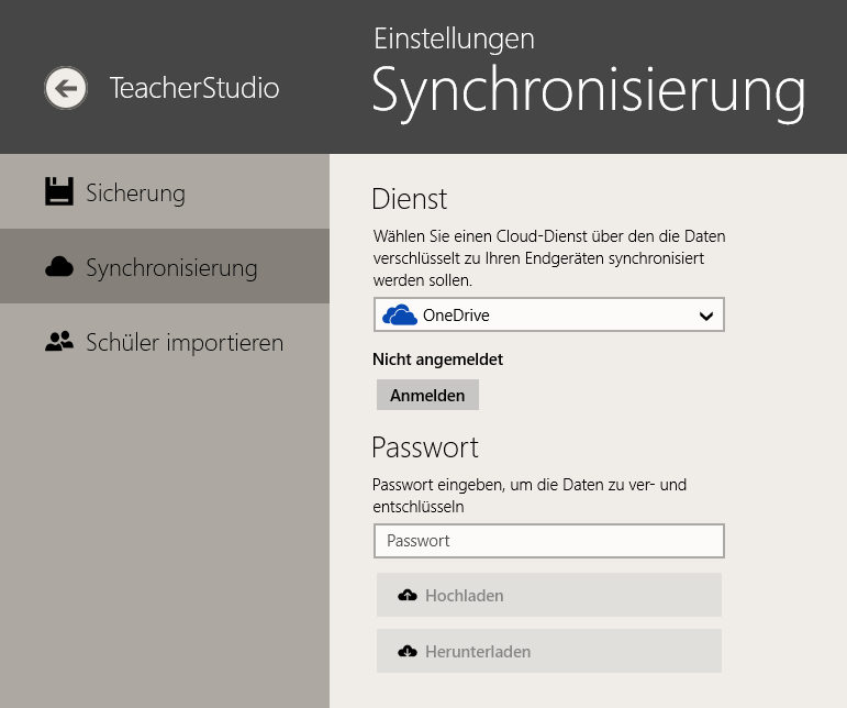 TeacherStudio-Windows-Einstellungen