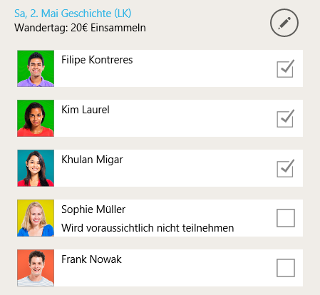 TeacherStudio-Windows-Schülerliste