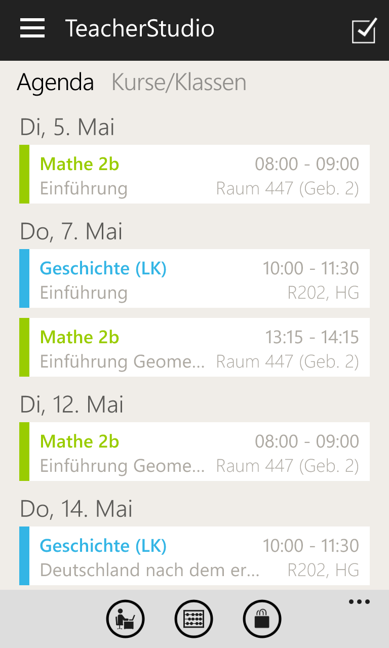 TeacherStudio-Windows-Phone-Agenda