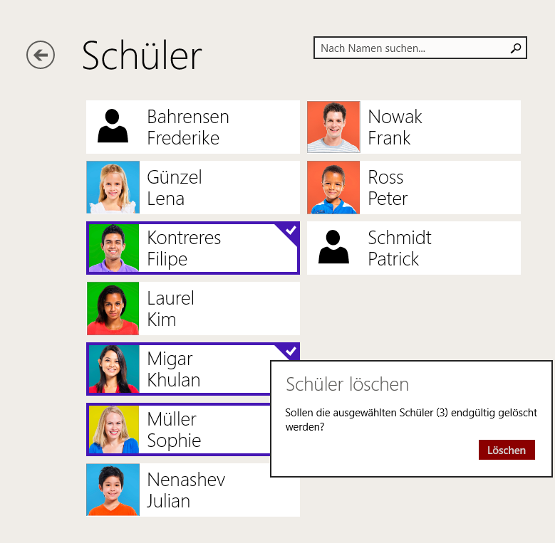 TeacherStudio-Windows-Schüler-in-Suche-löschen
