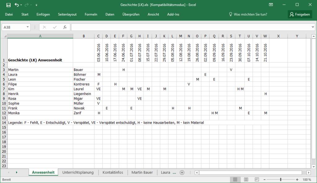 TeacherStudio-Excel-Export-Beispiel
