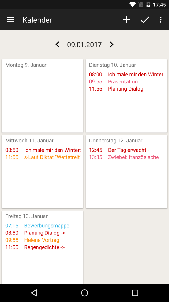 TeacherStudio-Android-Phone-Kalender