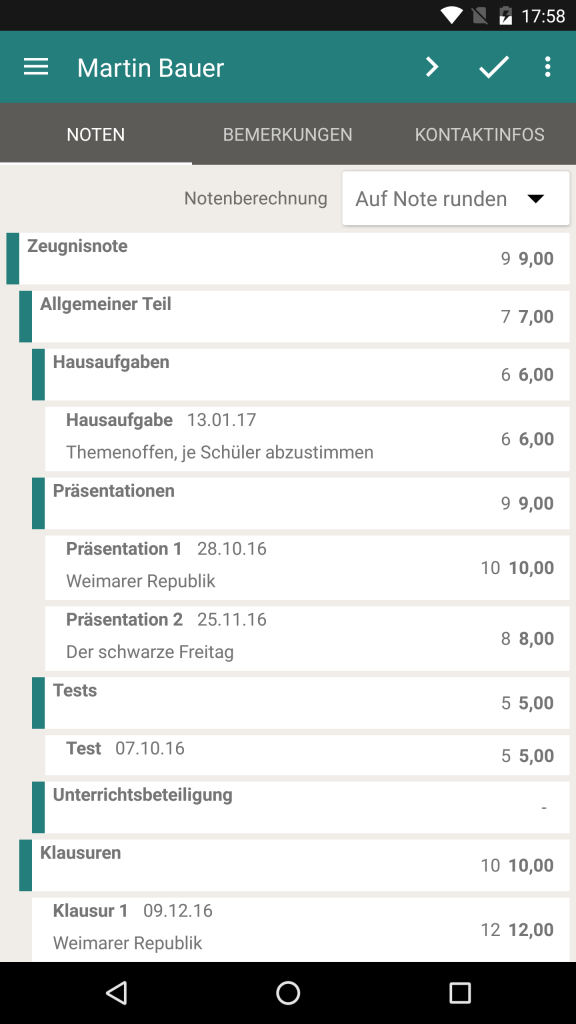 TeacherStudio-Android-Phone-Notenstand